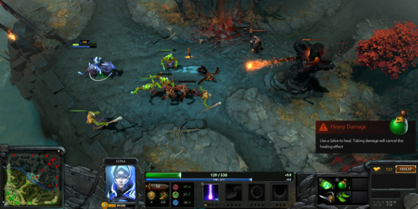 Screenshot from Dota 2